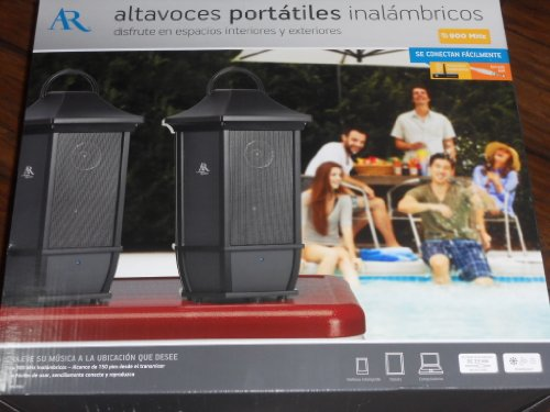 Acoustic Research Portable Wireless Speakers Pair Ws2Pk63 Indoor/Outdoor