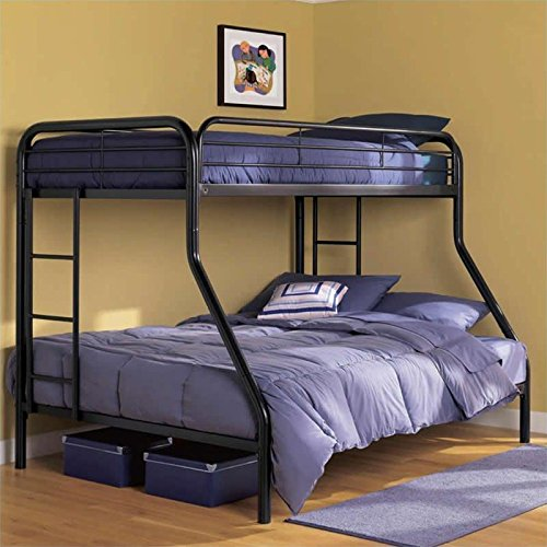 Dorel home products twin over full bunk bed black your for Bunk bed frames for sale
