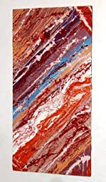 Abstract Expressionism Painting ~ Modern ART Piece 24x48 Inches (2x4 Feet) ~ Titled: TONGUES OF FIRE AT THE END OF THE DAY