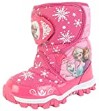 Disney Frozen Elsa Anna Twinkle Girl's Lighting Winter Warm Pink Synthetic Leather Snow Boots (Toddler/Youth)