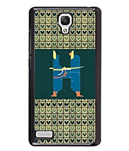 PrintVisa Metal Printed Alphabet Designer Back Case Cover for Xiaomi Redmi Note 4G -D4812