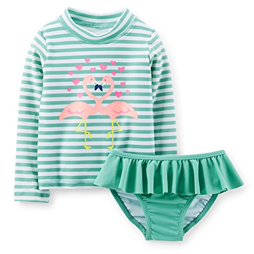 Carters 2 Piece Kissing Flamingos Rashguard Set (12M)