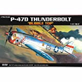 [Academy] Plastic Model Kit 1/72 P-47D THUNDERBOLT BUBBLE-TOP (#12491) /item# G4W8B-48Q34467