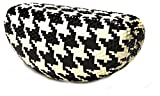 Colorful Eyeglasses or Sunglasses Case (Hounds-tooth Black/White)