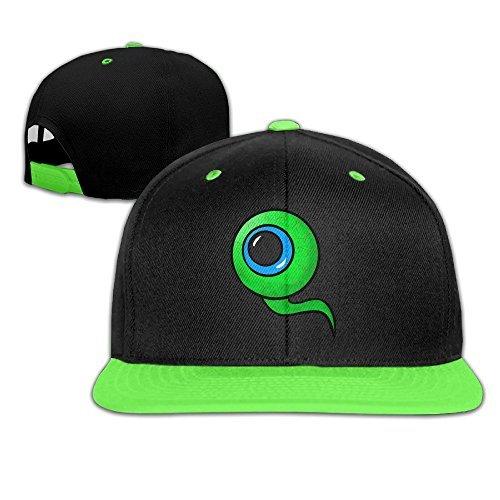 wyuzhen-kids-jacksepticeye-eyeball-hip-hop-snapback-hat-caps-kellygreen-by-wyuzhen