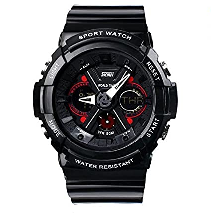 Skmei Analogue-Digital Black Dial Men's Sports Watch - zooper By Amazon @ Rs.680