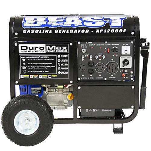 DuroMax XP12000E 12000W Portable Gas Electric Start Generator (Electric Start Generator Honda compare prices)