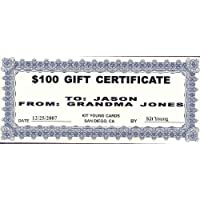 1 - $100 Gift Certificate Kit Young Cards 78895