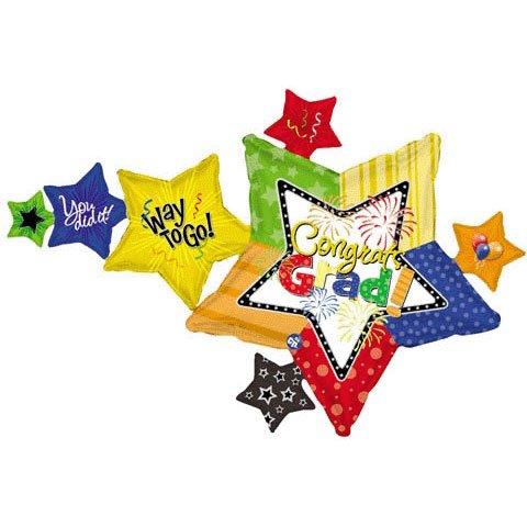 """34"""" Congrats Grad Multi Stars (B6) - 1"""