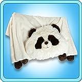 The Original My Pillow Pets PAnda Blanket - Black And White