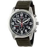 Citizen Men's AT0200-05E Eco-Drive Chronograph Canvas Watch ~ Citizen