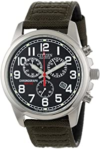 Citizen Men's AT0200-05E Eco-Drive Stainless Steel Watch with Canvass Band