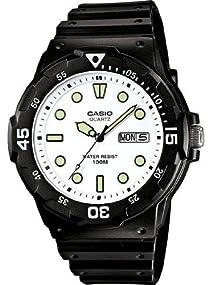 Casio #MRW200H-7EV Men's Black Rubber Band 100M Sports Analog Watch