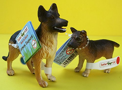 Safari Ltd Spielset Schäferhund mit Welpe 2 Figuren - Hund