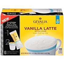 Gevalia, 2-Step K-Cup & Froth Packets, 6 Count, 5.6oz Box (Pack of 3) (Vanilla Latte)