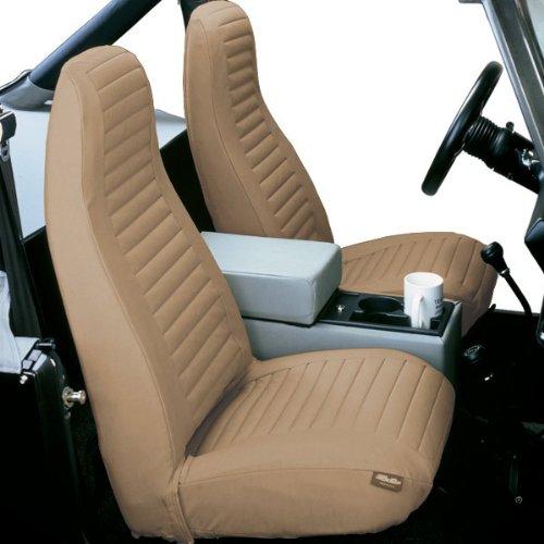 Bestop Seat Cover Hi Back Bucket Pair Tan 1976-1991 Jeep CJ5, CJ7 & Jeep Wrangler YJ # 29227-04 (Yj Bucket Seats compare prices)