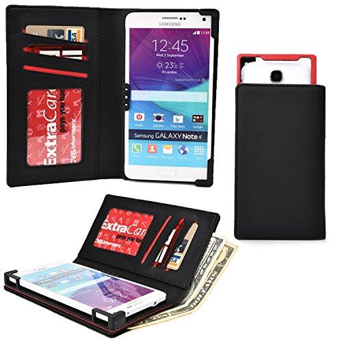 Cooper Cases(TM) PIX Samsung Galaxy S4 Active/LTE-A, S5 Plus/Sport スマートフォンウォレットケース(ブラック)(iOS/Android/Windows用デバイスに幅広く対応、傷や水はねに強い合皮、スライドフレームでカメラに簡単アクセス、カード入れ&ポケット、SIMカードホルダー付き紙幣入れ、飽きのこない洗練されたデザイン)