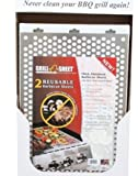 Thick Aluminum BBQ Sheet Grill Topper (Pack of 2) 12x18 (Reusable)