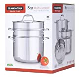 Tramontina Tri-Ply Clad 8 Qt. Multi-Cooker (4 Pc Set)