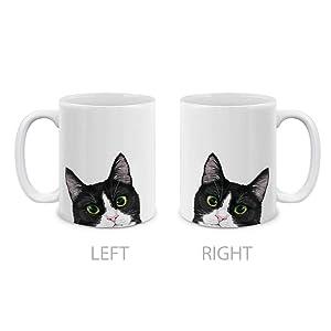 Tuxedo Cat Black White Ceramic Coffee Tea Mug Cup 11 Oz
