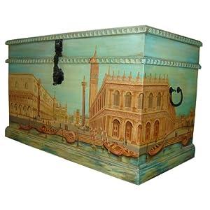 Meubles Valentina - Grand coffre entièrement peint à la main - Venise 51oTOlYNAmL._SL500_AA300_