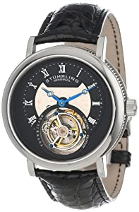 Stuhrling Original Men's 502.331X1 Tourbillon Circular Limited Edition Mechanical Black Watch