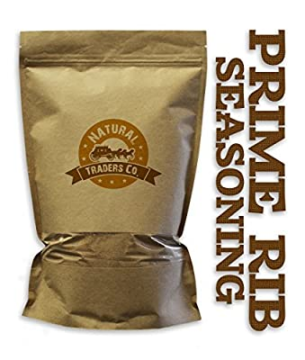 Natural Traders Prime Rib Seasoning - 8oz Package - Kosher, Non Gmo, Gluten Free by Natural Traders