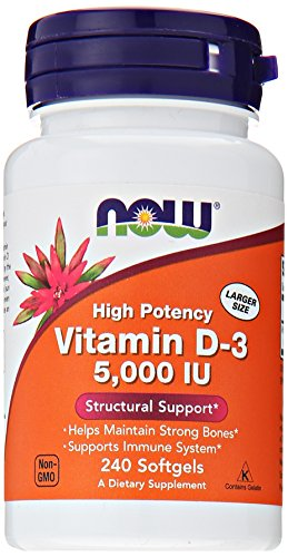 NOW Foods Vitamin D3 5000 Iu, 240 Softgels, (Vitamin D 3000 compare prices)