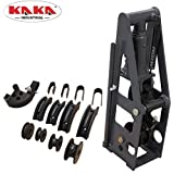 KAKA Industrial HB-8 Heavy-Duty 8 Ton Hydraulic Roll Cage Tube Bender, Solid Construction and High Precision Metal Tube Bender with 5 Dies (Color: Black)
