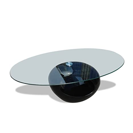 Mesa de café redonda negra