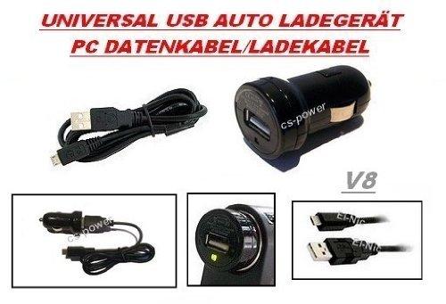 3in1 V8 SET 1000mAh USB Auto Ladegerät + USB Micro Datenkabel V8 von GiXa Technology Universal AC Ersatz Ladekabel / Datenkabel / PC Ladegerät + KFZ Auto Ladekabel passend für BlackBerry Black Berry Bold 9220 / Bold 9650 / Bold 9700 / Bold 9780 / Bold 9930 / Curve 3G / Curve 8520 / Curve 8530 / Curve 8900 / Curve 9300 / Playbook / Pearl 3G / Pearl Flip 8220 / Pearl Flip 8230 / Pearl 9100 / Pearl 9105 / Storm 9500 / Storm II 9520 / Storm 9530 / Storm II 9550 / Style 9670 / 9530 Thunder / Torch 9800 / Tour 9630 / 8220 /8520 /8900