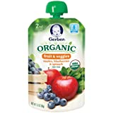 Gerber 2nd Foods Organic Baby Food, Apples, Blueberries and Spinach, 3.5 Ounce Pouches (Pack of 12)