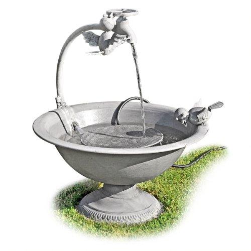 Fontaine à eau en métal + pompe 2 oiseaux