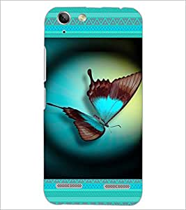 PrintDhaba Butterfly D-4644 Back Case Cover for LENOVO VIBE K5 (Multi-Coloured)