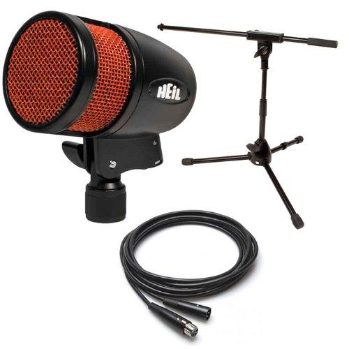 Heil Pr48 Bass Drum Mic W/Jamstands Kick Stand & 25' Xlr Cable Pr-48 Heilsound