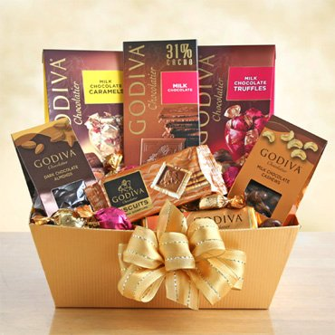 Exquisite Arrangements Godiva Chocolate Gift Basket