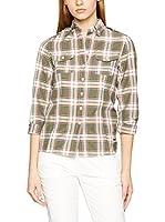 THINK PINK Camisa Mujer (Verde / Naranja)