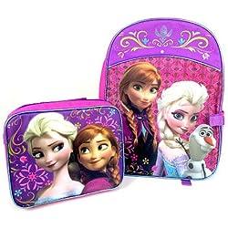 Disney Frozen Princess Elsa and Anna School Backpack & Lunchbox Combo, Frozen