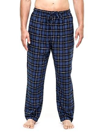 Men s 100% Cotton Super Soft Flannel Plaid Pajama Pants 710ad3d1e