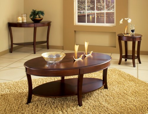 Steve Silver Troy Round Wood End Table