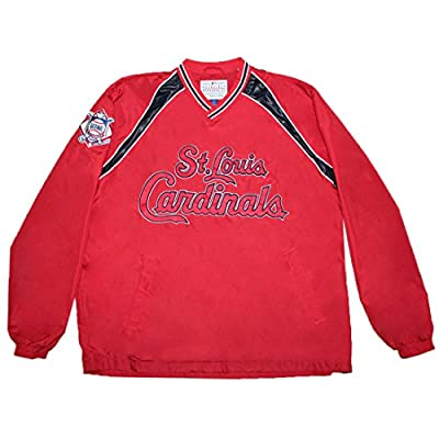 BIG & TALL MLB ST. LOUIS CARDINALS Mens Fall / Winter Wind Breaker Jacket with Lining