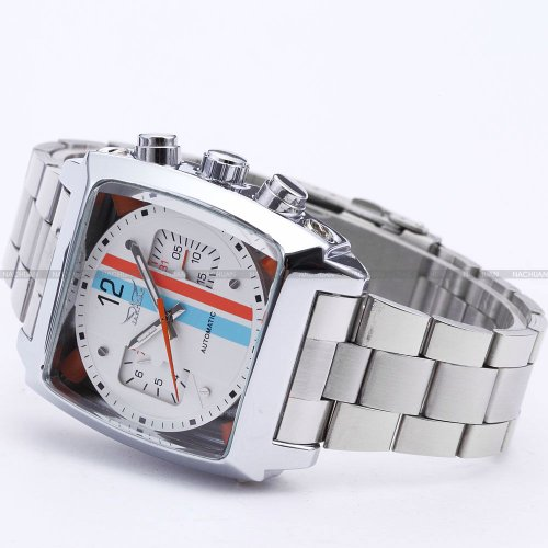 AMPM24 Mens Outdoor Automatic Mechanical Date Day Army Steel Sport Analog Wrist Watch