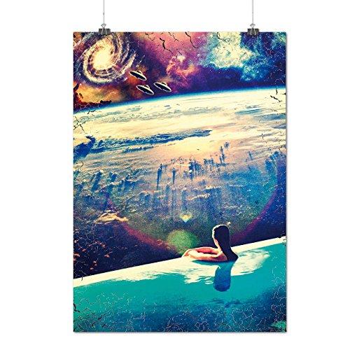 UFO-Invasion-Relax-Swim-Alien-MatteGlossy-Poster-A0-A1-A2-A3-A4-Wellcoda