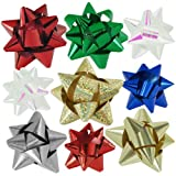 72pc Designer Holiday Christmas Gift Bow Assortment - Elegant Metallic, Iridescent, Holographic, Glitter, Lacquer Finishes