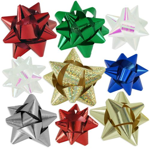 72pc Designer Holiday Christmas Gift Bow Assortment
