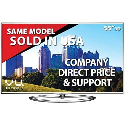 VU 55XT780 139 cm (55 inches) Full HD LED Smart 3D TV (Silver)