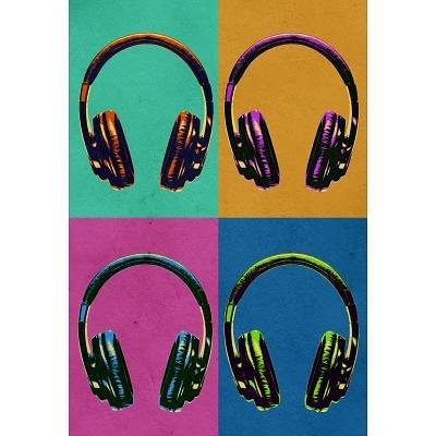 (13X19) Headphones Vintage Style Pop Art Poster