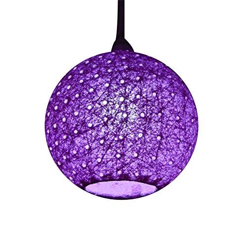 Salebrations Hanging Ball Lamp Shades Yarn Wit Holes