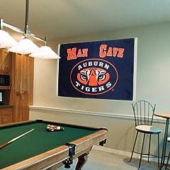 Buy NCAA Auburn Tigers Man Cave Flag with 4 Grommets (3 x 5-Feet) by BSI