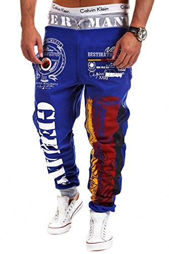 MT Styles - MT-523 - Pantaloni sportivi tuta FLAG - Blu - S